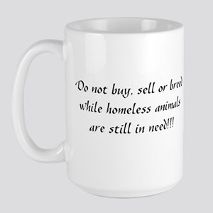 Homeless Animals Large Mug
