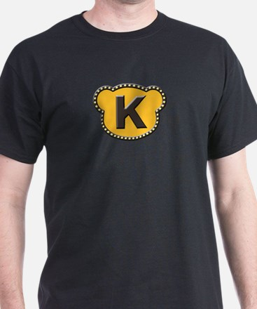 Bear Head Initial K T-Shirt