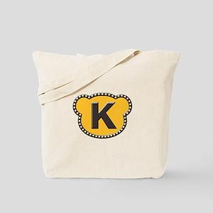 Bear Head Initial K Tote Bag