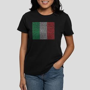 Italian Cities Flag Women's Dark T-Shirt