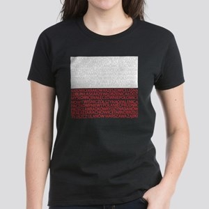 Polish Cities Flag Women's Dark T-Shirt