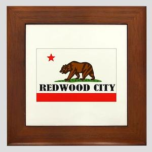 Redwood City,Ca -- T-Shirt Framed Tile