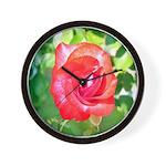 Fiery Rose Wall Clock