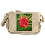 Fiery Rose Messenger Bag