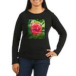 Fiery Rose Women's Long Sleeve Dark T-Shirt