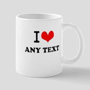 I Love blah blah(5~8 letters) Mug