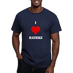 I LUV HATERZ GEAR Men's Fitted T-Shirt (dark)
