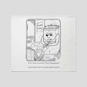 Waste Management Throw Blanket
