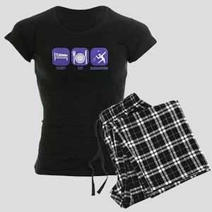 Sleep Eat Badminton Women's Dark Pajamas