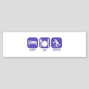 Sleep Eat Biathlon Sticker (Bumper)