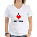 I LUV HATERZ GEAR Women's V-Neck T-Shirt