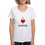 I LUV HATERZ GEAR Women's V-Neck T-Shirt
