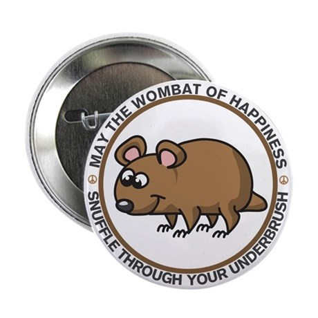 """Wombat Of Happiness 2.25"""" Button"""
