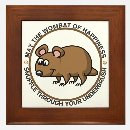 Wombat Of Happiness Framed Tile