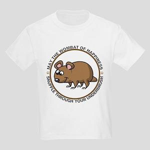 Wombat Of Happiness Kids Light T-Shirt