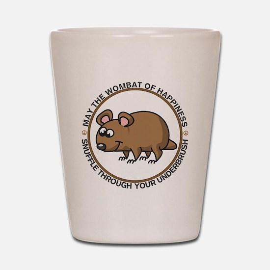 Wombat Of Happiness Shot Glass