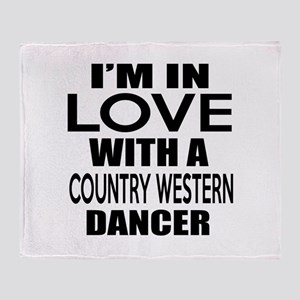 I Am In Love With Country Western Da Throw Blanket