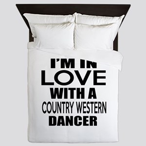 I Am In Love With Country Western Danc Queen Duvet