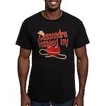 Cassandra Lassoed My Heart Men's Fitted T-Shirt (d