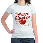 Catherine Lassoed My Heart Jr. Ringer T-Shirt