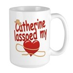 Catherine Lassoed My Heart Large Mug
