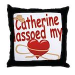 Catherine Lassoed My Heart Throw Pillow