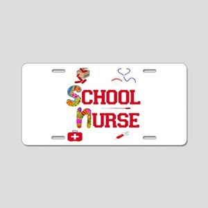 School Nurse Aluminum License Plate