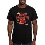 Cathryn Lassoed My Heart Men's Fitted T-Shirt (dar