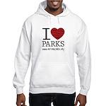 I Heart Parks Unisex Hooded Sweatshirt