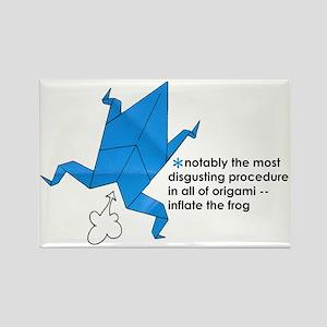 Origami Frog Rectangle Magnet