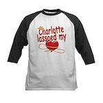 Charlotte Lassoed My Heart Kids Baseball Jersey