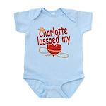 Charlotte Lassoed My Heart Infant Bodysuit