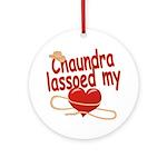 Chaundra Lassoed My Heart Ornament (Round)