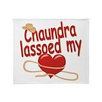 Chaundra Lassoed My Heart Throw Blanket
