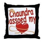 Chaundra Lassoed My Heart Throw Pillow