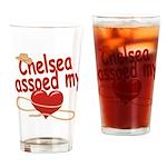 Chelsea Lassoed My Heart Drinking Glass