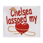 Chelsea Lassoed My Heart Throw Blanket