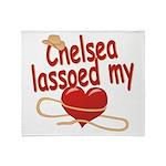 Chelsea Lassoed My Heart Throw Blanket