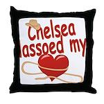 Chelsea Lassoed My Heart Throw Pillow