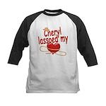 Cheryl Lassoed My Heart Kids Baseball Jersey