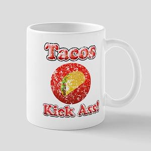 Vintage Tacos Kick Ass Mug