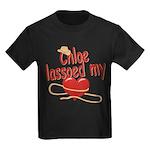 Chloe Lassoed My Heart Kids Dark T-Shirt