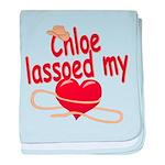 Chloe Lassoed My Heart baby blanket