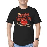 Christen Lassoed My Heart Men's Fitted T-Shirt (da