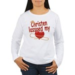 Christen Lassoed My Heart Women's Long Sleeve T-Sh