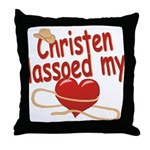 Christen Lassoed My Heart Throw Pillow