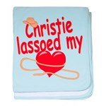 Christie Lassoed My Heart baby blanket