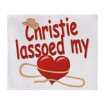Christie Lassoed My Heart Throw Blanket