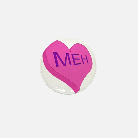 Anti Valentine Candy Meh Mini Button