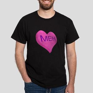 Anti Valentine Candy Meh Dark T-Shirt